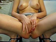After enjoying a staggering fuck, blondie gets covered in warm jizz over her face