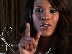 Cocoa Keisha Kane has fire in her eyes as she toys her twat