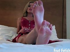 Smell that? Pretty stinky, huh? I've been walking around on my feet all day long and they are pretty sweaty right now. If you want to worship these feet you are going to have to come to love the smell of a woman's foot after a long day. You're such a foot freak I bet just the smell of a woman's foot gets you hard.