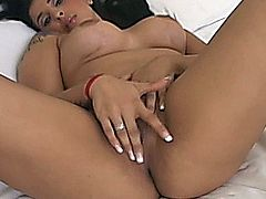 Ebony tranny in a threesome video. Ebony tranny favorite latina girl and fetish guy for hardcore sucking and fucking