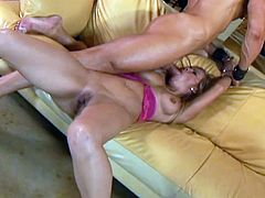 Kayla Synz is an energetic American MILF and she never misses to play with a big cock. Watch her blowing it ballsdeep and taking it into her horny shaved pussy.