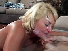 She n\knows how to make cock hard and how to suck it, this mature in white stocking is there to make that horny fucker pleased and do ever he wants.