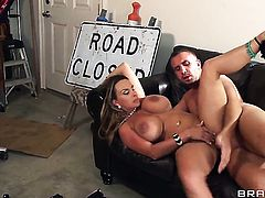 Keiran Lee explores the depth of ultra hot Holly Halstons throat with his snake