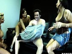 Phoenix Marie with round bottom and Audrianna Angel loses control in wild girl-on-girl action
