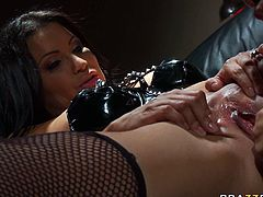 Watch this hottie and slutty babe enjoying that nice fuck of her small mouth by her friend in Brazzers Network sex clips.