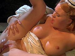 Wild and crazy Tom Byron with long rock hard cock in straight jacking fucks in the ass busty blonde nurse Krissy Lynn in white uniform all over the place.