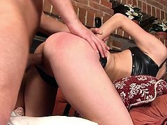 Talented blonde Angel Piaff receives a huge dick up her warm ass hole