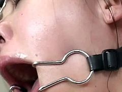 Sluty japanese gets ravished in bondage scene and gets covered in creamy jizz