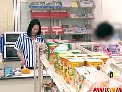 Japanese slut fucked in public. She was just an innocent worker until this horny dude appear and plays with her pussy then eventually drilled her. They are not afraid that someone can see them.