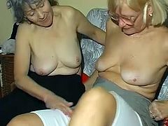 Do you feel for old lesbian porn? Watch two time worn grandmas sucking each saggy tits and licking each other's stinky loose cunts.