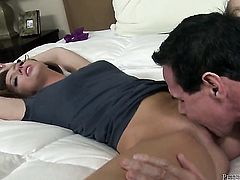 Peter North gets turned on by Maddy OReilly and then drills her mouth