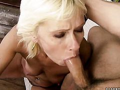 Blonde gets her wet hole nailed ferociously by dudes erect tool