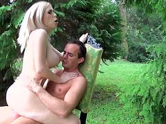 Sex addicted Isabella Clark gets ass fucked in a park