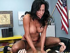 Lezley Zen with huge boobs gets her beaver banged ruthlessly by Xander Corvus