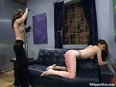 So, two sizzling and super hot babes are going to have fun in the office. It wasn't gonna be just a lesbian sex. SomeS hot BDSM femdom was meant to happen!