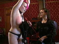 Iona Grace and Juliette March are playing dirty games indoors. They let some guy tie them up and then get their holes explored by a group of people.