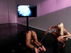 Playful brunette girl gets bound by Lorelei Lee. Later on Beretta gets her ass wired and pussy torn up with a strap-on.