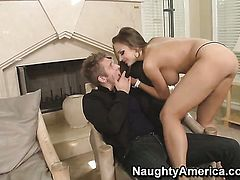 Nika Noir and hot guy Danny Wylde are horny for each other