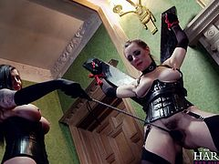 Watch them seducted babes in leather outfit getting fucked in their tight pussy and butthole in Harmony Vision sex clips.