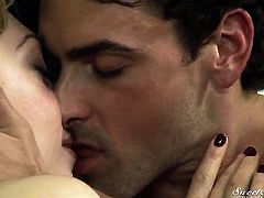 Aurora Snow finds it exciting to be face fucked by Ryan Driller in front of the camera