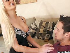 Alexis Ford with giant breasts gets a fuck with hard dicked fuck buddy Johnny Castle