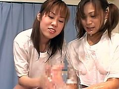 Alluring japanese babes are playing quite nasty in amazing hardcore group session