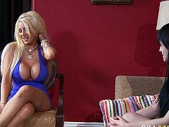 Candy Mason gives her girlfriends masturbation solo. Horny blondie shows off her ginormous fake tits and pokes her bald coochie with plastic dildo.