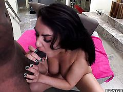 Charley Chase with round butt gags on dudes rock solid tool