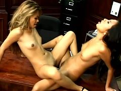 Steaming porn scene with two juicy Asian lesbian babes Nyomi Marcela and Lana Croft. Babes are so high about each other!