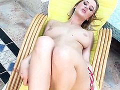 Jane Darling spends her sexual energy alone with the help of toy