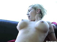 Smoking hot kitty Kasey Grant with big knockers lets horny guy fuck her pussy