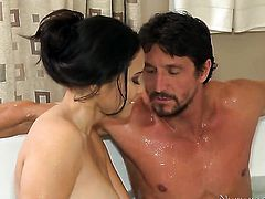 Brunette asian Jessica Bangkok and hard dicked guy Tommy Gunn have a lot of sexual energy to spend