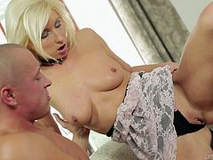 Nico Blade and charming slim blonde Vanessa Hell are having some nice time together. They have ardent oral sex and then fuck in the reverse cowgirl position and doggy style.