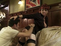 Watch this office chick working her tight pussy really hard to ride that large cock os sofa in Wicked sex clips.