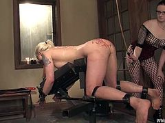 Lorelei Lee is that steaming hot blondie that is going to be tortured so damn hard! This is some insane scene that is going to take place.