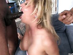 Andi Anderson gets some in steamy interracial sex action