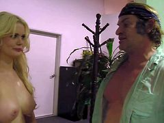 Pretty blonde and muscled stud film parody