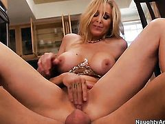 Alan Stafford loves always wet warm love hole of Julia Ann with huge jugs and shaved beaver