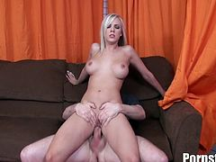 Two hard cocks team up to fuck Britney Beth. This blonde whore surely is eager to satisfy these fuckers with her sexy body. She is definitely ready to give us one explosive double pounding show.