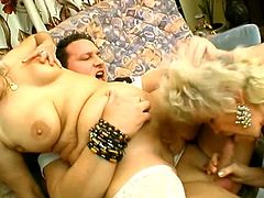 Erlene and Francesca are two wild grannies that when ever they feel very horny, they call their favorite fucker to come and fulfill their nasty minds