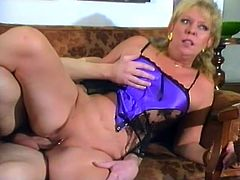 Here is a mature amateur who is getting the kind of real dirty doggystyle fucking that she has not had in a long time. She can really feel that cock.