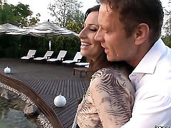Sensual Jane is in heaven fucking with hot guy Rocco Siffredi