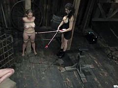 There's spanking, ass toying and fingering, torture, bondage, humiliation and much more in this wicked lesbian BDSM session.