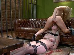 They love some BDSM in their hot lesbian scenes! So Ashley Fires spreads her legs wide and lets Tara Lynn Foxx do whatever she wants to do with her.