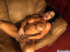 aziani iron,clit pump,muscles,fitness,female bodybuilder,big clit,biceps,abs,pornstar