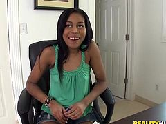 Check out this hardcore scene where a sexy ebony teen being nailed by this guy as she auditions for her first hardcore sex scene.
