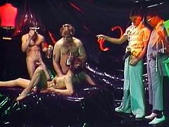 Take a look how three fabulous retro lesbies spank each other's tight butts and finger fuck their wet hairy coochies. Those lesbies look very sexy!