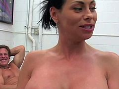 Harley Raine is sexy boded dark haired mommy with huge perfect boobs. She shows her assets and gets her holes drilled by black and white cocks. Thick huge dicks are what she loves so much.