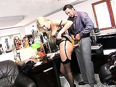 Donna Bell takes cum shot of her lifetime
