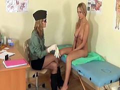 Dissolute Bigtitted honey goes through rude gyno exam
